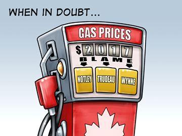 Today's cartoon: Gas prices